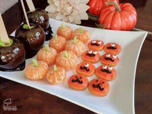 Hallowen snacks' tray