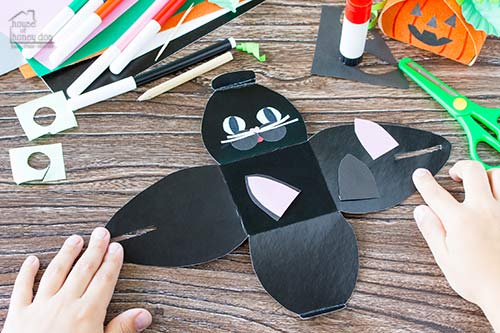 black cat treat box