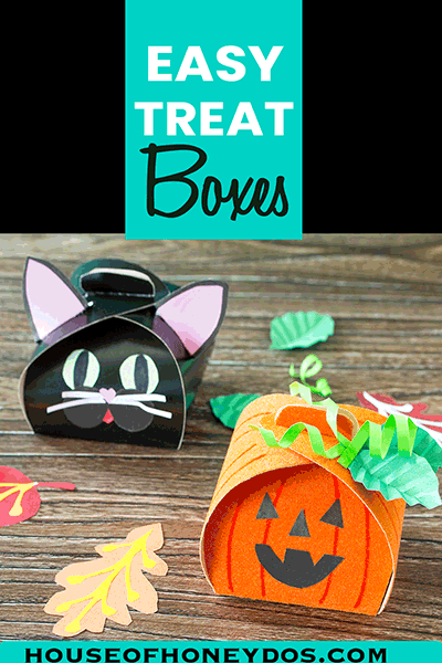 DIY Halloween Treat Boxes - pin