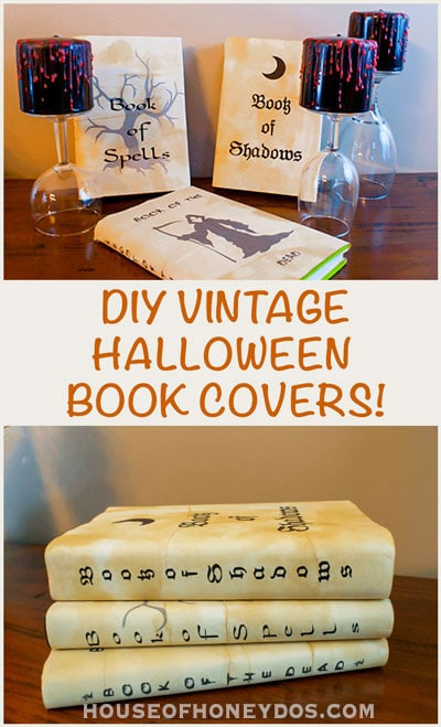 vintage Halloween book covers -pin