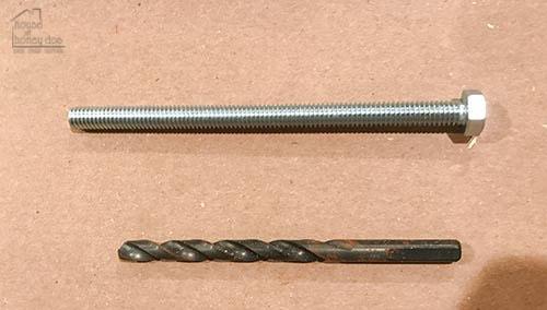 bolt and drill bit