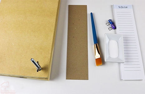 materials used to make DIY tear-away notepads