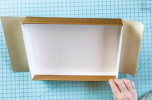 covering box with contact paper