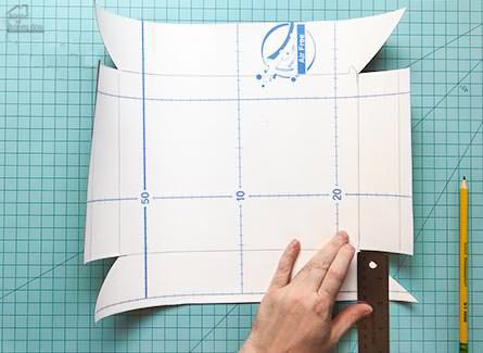 measuring contact paper to cover boxes