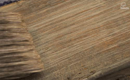 close-up of driftwood finish