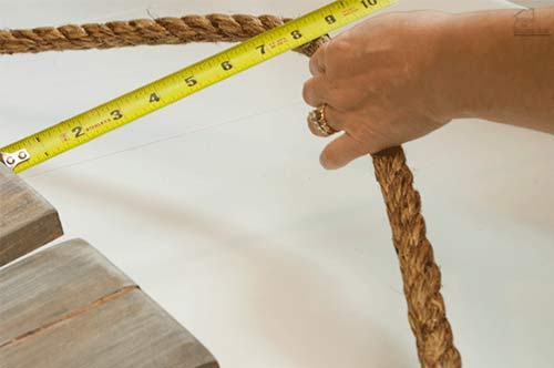 measuring for rope