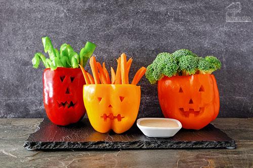 pepper and vegetable Halloween dip