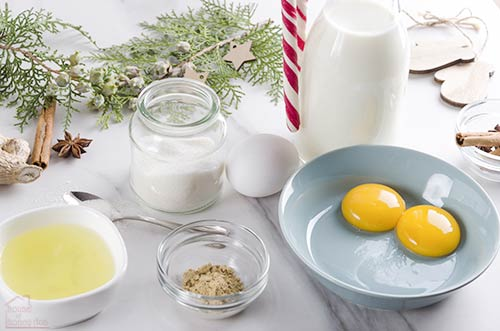 ingredients to make eggnog