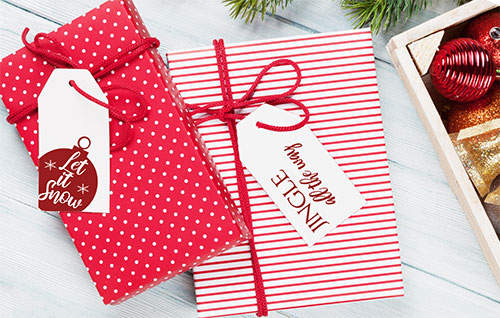 Chrismtas gifts demonstrating free gift tags