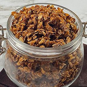 jar of honey nut granola