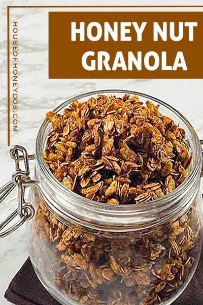 granola in a jar