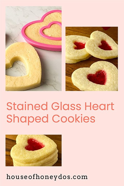 collage of stained glass cookies